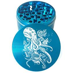 "2.2"" Multi Tooth Custom Grinder w/ Octopus Anchor Engraving"