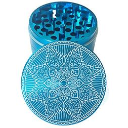 "2.2"" Multi Tooth Custom Grinder w/ Mandala 48 Engraving"