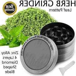 New 4 Piece Herb Grinder Spice Crusher Magnetic Designer Sil