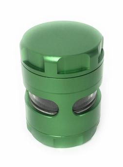 NEW Aluminum Alloy Herb Grinder 2 Inch 5 Piece Tobacco Spice