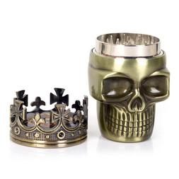 New Arrival Classic Hot King Skull Metal Tobacco Herb Spice