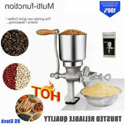 NEW Grinder Corn Coffee Wheat Manual Hand Grains Iron Nut Mi