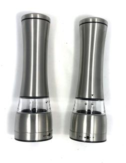 New Premium Stainless Steel Salt and Pepper Grinder of set 2