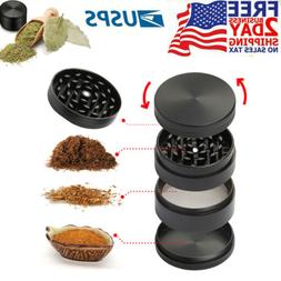 New Spice Tobacco Herb Weed Grinder-5 Pcs with Pollen Catche