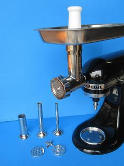 ORIGINAL STAINLESS STEEL Meat Grinder for Kitchenaid Mixer &