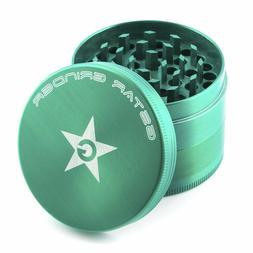 GStar 2.3 Inch 4 Piece Tobacco Spice Herb Grinder - Green