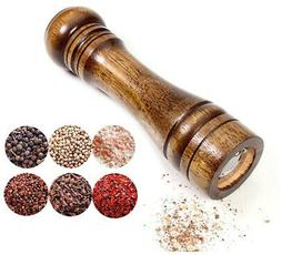 "Pepper Mill Solid Wood Body Adjustable Pepper Grinder 8"" Lon"