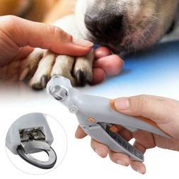 Pet Nail Clipper Led Light 5x Magnification Trimmer Pet Care
