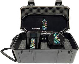 Pineapple Locking Stash Box Combo - Smell Proof Case with lo