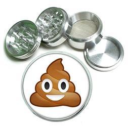Poop Emoji Funny 4 Pc. Aluminum Tobacco Spice Herb Grinder