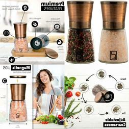 Premium Salt And Pepper Grinder Set - Best Copper Stainless