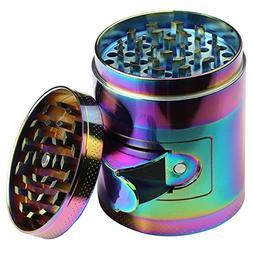 DCOU New Design rainbow Herb Grinder 2.2 Inches 4 Piece Grin