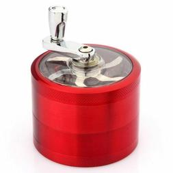 Red 4-Layers Herb Grinder Spice Tobacco Smoke Metal Crusher