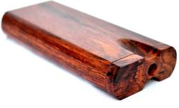 Rosewood Dugout One Hitter Stash Box w/ 3 Grinder Metal One