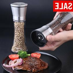 Salt and Pepper Grinder 2 Set Ceramic Mills Shakers Spice Mi