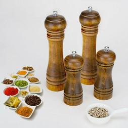 Salt And Pepper Grinder Hand Movement Wood Pepper Mill Kitch