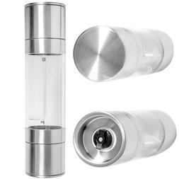 Salt and Pepper Grinder Set 2-in-1 Adjustable Ceramic Mill S