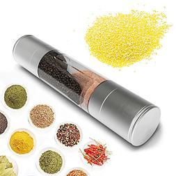 SUPOW Salt & Pepper Grinder 2 in 1 Dual Salt & Pepper Mill G