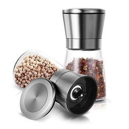 Salt and Pepper Grinder Set, Adoric Salt and Pepper Shakers
