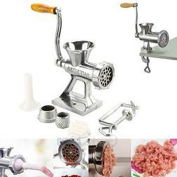 Sausage Filler Maker Machine Table Hand Crank Manual Meat Gr