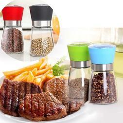 Seasoning Pepper Spices Grinder Mill Bottles Glass Kitchen T