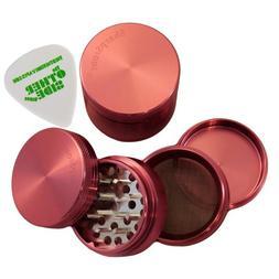 """2.2"""" - Pink 4 Piece SharpStone Aluminum Herb Grinder + Custo"""