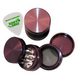 "1.5"" - Purple 4 Piece SharpStone Aluminum Herb Grinder + Cus"