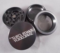"Small 1.6"" Gunmetal Grey 4 Piece SANTA CRUZ SHREDDER Grinder"