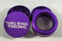 """Small 1.6"""" Matte Purple 4 Piece SANTA CRUZ SHREDDER Grinder"""