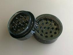 """Small 1.75""""  Plastic Tobacco Grinder - Black Plastic Grinder"""