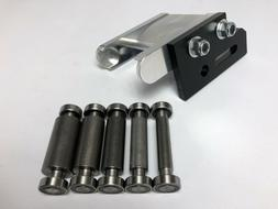 "Small Wheel Holder & wheels for 2x72"" belt grinder"