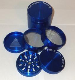 SMART CRUSHER LARGE Blue 5 Piece Titanium Coffee Tobacco Her