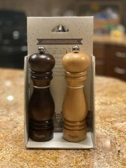 Bisetti Solid Wood Salt & Pepper Grinder Set Made In Italy C