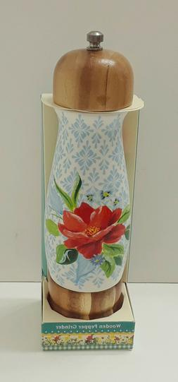 PIONEER WOMAN - SPRING BOUQUET - WOOD PEPPER GRINDER - NEW