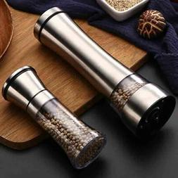 Stainless Steel Adjustable Salt Pepper Manual Grinder Mill S