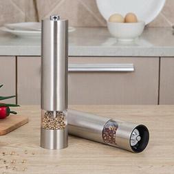 Stainless Steel Electric Salt Pepper Mill Grinder Shaker Set