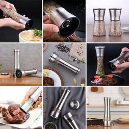 Stainless Steel Pepper Grinder Hand Twist Spice Salt Mill Ma