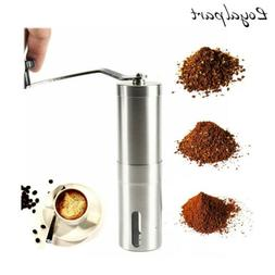 Stainless Steel Portable Manual Coffee Grinder With Ceramic