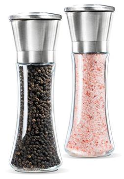 Levav Premium Stainless Steel Salt and Pepper Grinder Brushe