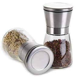 Milltey Stainless Steel Salt and Pepper Shakers Grinders Set