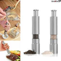 Stainless Steel Salt Pepper Spice Herb Sauce Grinder Mill Th