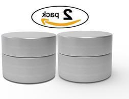 Herb Stash Jar   2 Solid Aluminum Airtight Smell Proof Conta