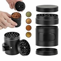 Titanium Crusher Drum 2.5 Inch 4 Piece Tobacco Spice Herb Gr
