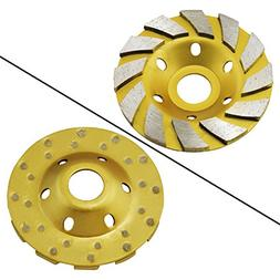 "OCR 4"" Concrete Turbo Diamond Grinding Cup Wheel Three Row T"