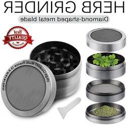 Tobacco Herb Grinder Spice Herbal Alloy Smoke Crusher 4 Piec