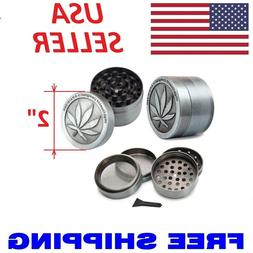 Tobacco Herb Grinder Spice Herbal Alloy Smoke Crusher 4 Piec