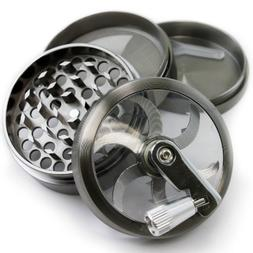4 Piece Tobacco Herb Spice Grinder Chromium Crusher Metal 2.