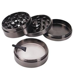ETvalley 4 Pieces 2.5 Inch Tobacco Spice Herb Grinder, Black
