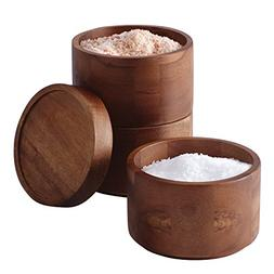 Rachael Ray Tools and Gadgets Wooden 3-Tier Stacking Salt Bo