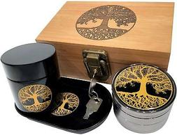 Tree of Life Stash Box Combo - Full Size Titanium 4 Part Her